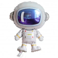 Globo Metálico Astronauta  Cotillón Espacial