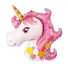 Globo Foil Unicornio Flores 33 cm Cotillón Activarte Cotillón Unicornio