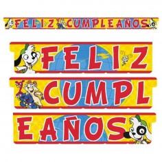 Guirnalda Feliz Cumpleaños Doki  Cotillón Doki