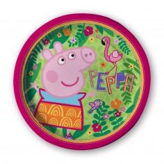 Plato Peppa Pig x 6  Cotillón Peppa Pig