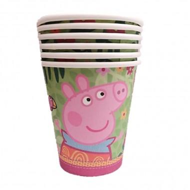 Vaso Peppa Pig x 6  Cotillón Peppa Pig