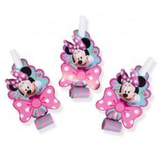 Pito Serpiente Minnie Mouse x 6 Cotillón Activarte Cotillón Minnie Mouse
