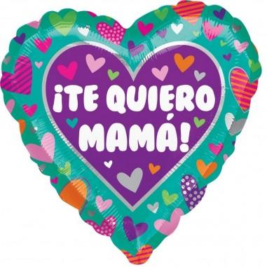 """Globo Corazón """"Te Quiero Mamá""""  Cotillón Día de los Enamorados"""
