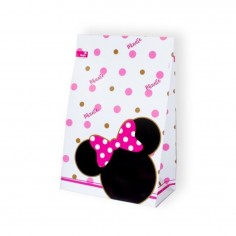 Bolsa Dulces Minnie Mouse Dorado x 6  Cotillón Minnie Mouse
