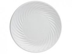 Plato Desechable Blanco x 25  Línea Colores