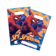 Bolsa Dulces Spiderman x 6  Cotillón Spidermann