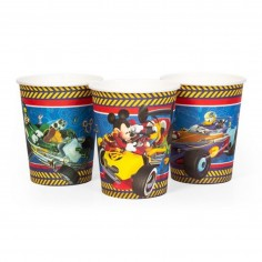 Vaso Mickey Mouse x 6  Cotillón Mickey Mouse