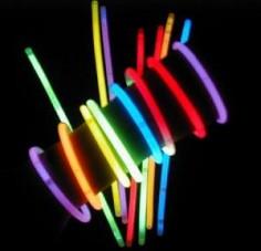 Tubo 100 Pulseras Light Stick  Accesorios Cotillón