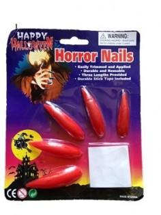 Uñas Rojas Halloween  Accesorios Halloween