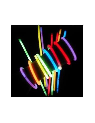 Tubo 50 Pulseras Light Stick  Accesorios Cotillón