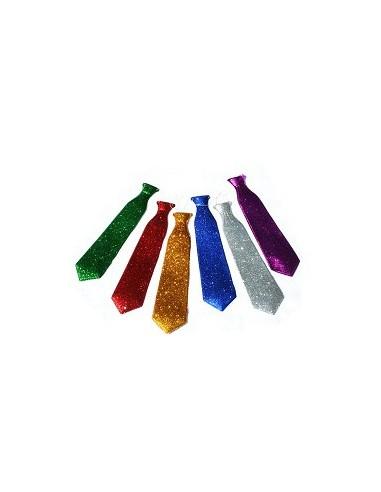 Corbata Plástica Purpurina  Corbatas, Corbatines y Bandas