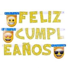 Guirnalda Feliz Cumpleaños Emoji  Cotillón Emoji