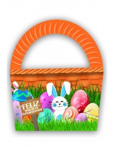 Canasto de Pascua x 6  Pascua de Resurrección