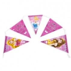 Banderín Feliz Cumpleaños Princesas Disney  Cotillón Princesas de Disney