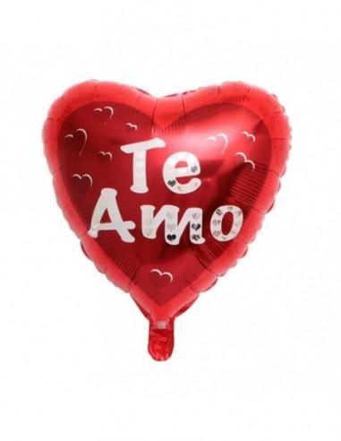 """Globo Metálico Corazón """"Te Amo""""  Cotillón Día de la Mamá y Enamorados"""