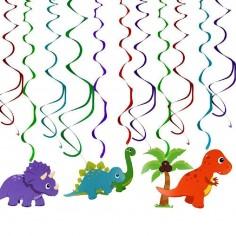 Set Espirales Decoración Cumpleaños Dinosaurio  Cotillon Dinosaurio