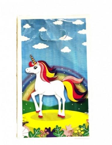 Bolsa Dulces Unicornio Celeste x 6  Cotillón Unicornio