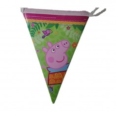 Banderín Peppa Pig  Cotillón Peppa Pig