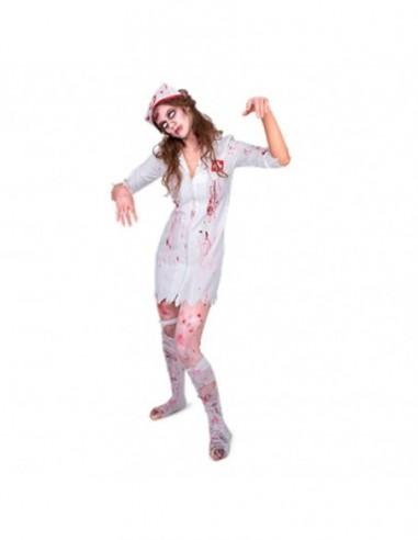 Disfraz Enfermera Zombie Talla M  Disfraces Adultos