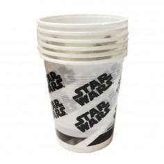 Vaso Star Wars x 6  Cotillón Star Wars