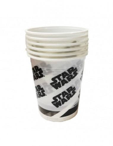 Vaso Star Wars x 6  Cotillón Star Wars