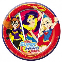 Plato Super Hero Girls x 6  Cotillón Super Hero Girls