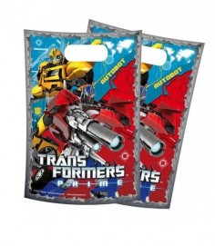 Bolsa Dulces Transformers x 6  Cotillón Transformers