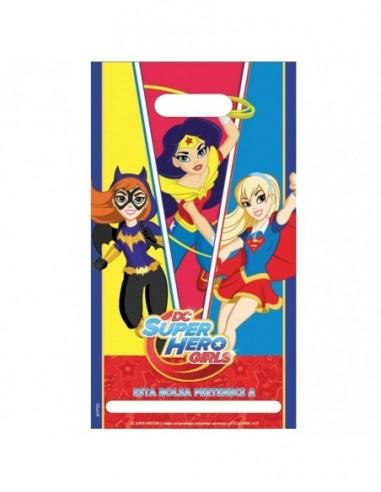 Bolsa Dulces Super Hero Girls x 6  Cotillón Super Hero Girls