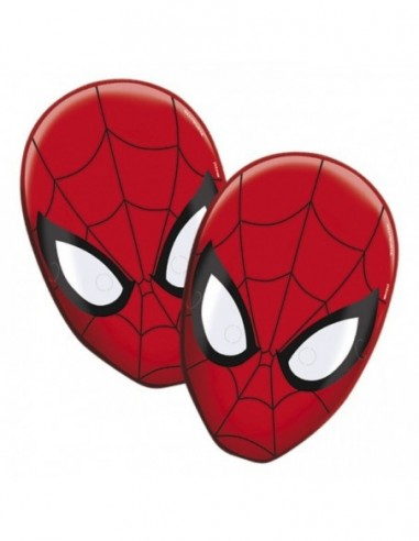 Máscara Spiderman x 6  Cotillón Spidermann