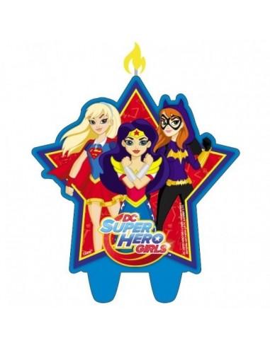 Vela Super Hero Girls  Cotillón Super Hero Girls