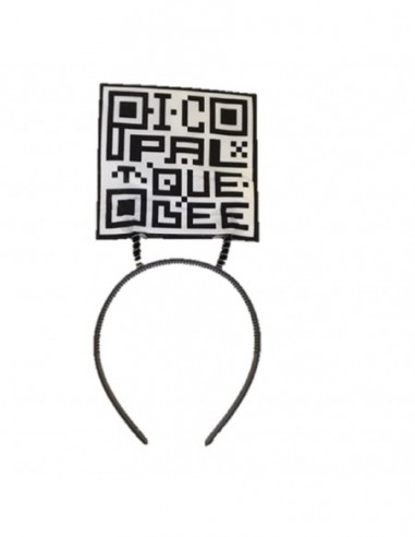 Cintillo Mensaje QR  Accesorios Cotillón