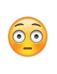 Máscara Emoji Sonrojado  Antifaces y Máscaras