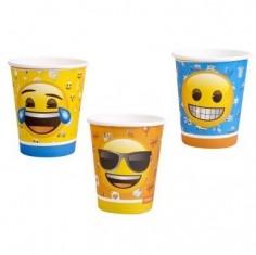 Vaso Emoji x 6  Cotillón Emoji