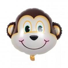 Globo Metálico Mono  Cotillón Animalitos