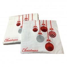 Servilleta Navidad Diseño Esferas x 20  Decoración y Cotillón Navidad