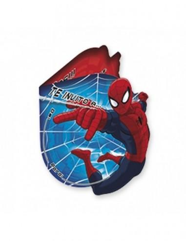 Invitaciones Spidermann x 6  Cotillón Spidermann