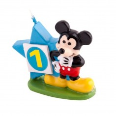Vela Mickey Mouse 3D  Cotillón Mickey Mouse
