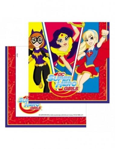 Servilleta Super Hero Girls x 12  Cotillón Super Hero Girls