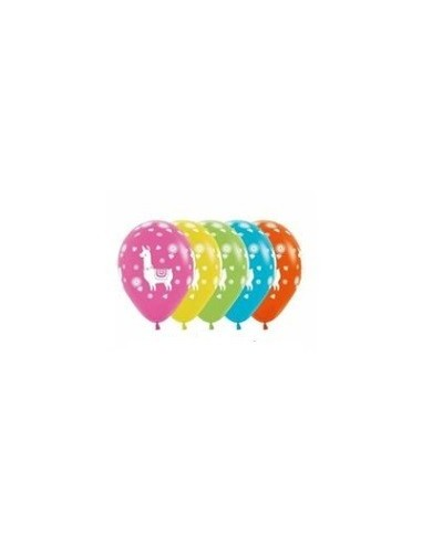 Globo Cumpleaños Llama x 6  Cotillón Llama
