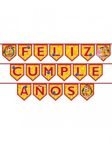 Guirnalda Feliz Cumpleaños Perro Chocolo Original  Cotillón Perro Chocolo