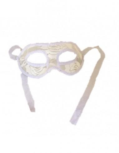 Antifaz Veneciano Encaje Color Blanco  Antifaces y Máscaras