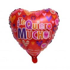 Globo Metálico Te Quiero Mucho  Cotillón Día de la Mamá y Enamorados