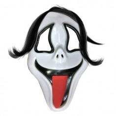 Máscara Scream Con Capucha y Pelo  Mascaras Halloween