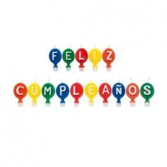 Velas Feliz Cumpleaños Globos  Velas