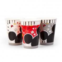 Vaso Mickey Mouse Clásico x 6  Cotillón Mickey Mouse