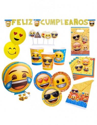 Pack Cumpleaños Emoji x 12  Cotillón Emoji