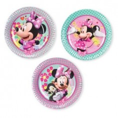 Plato Minnie Mouse x 6  Cotillón Minnie Mouse
