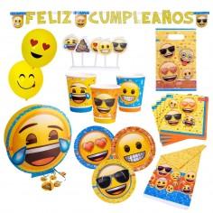 Pack Cumpleaños Emoji x 18  Cotillón Emoji