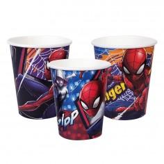 Vaso Spiderman x 6  Cotillón Spidermann