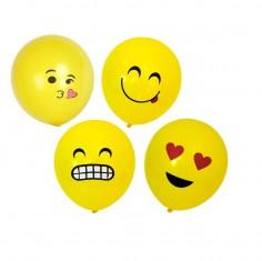 Globo Emoji x 10  Cotillón Emoji